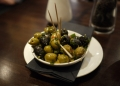 Olives with Dried Herbs and Crushed Garlic